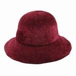 Hat Stack 100% Chenille Floppy Brim Hat - Burgundy