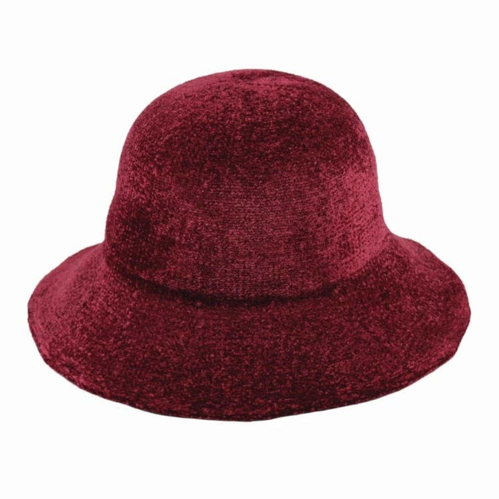 Jeanne Simmons 100% Chenille Floppy Brim Hat - Burgundy