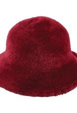 Hat Stack Fuzzy Wire Adjustable Brim Hat - Burgundy