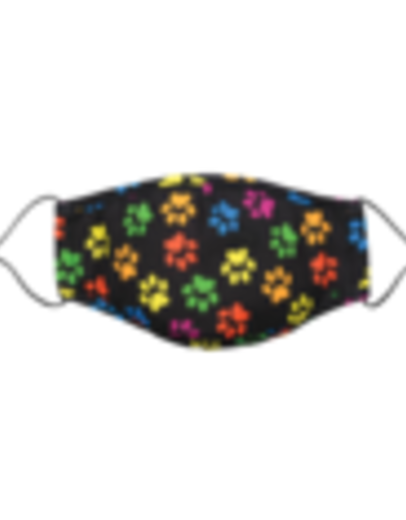 Snoozies Brightly Colored Paws Face Mask