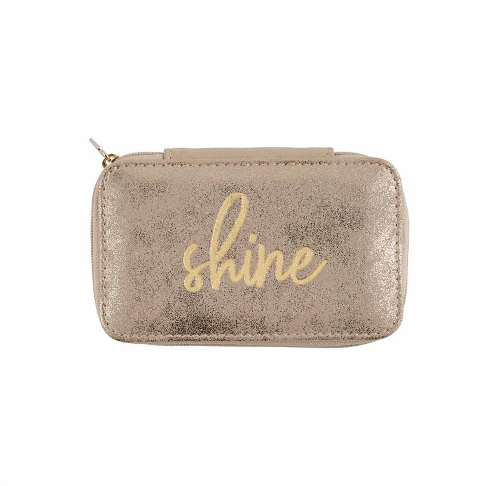 Shine Mini Jewelry Case in Gold