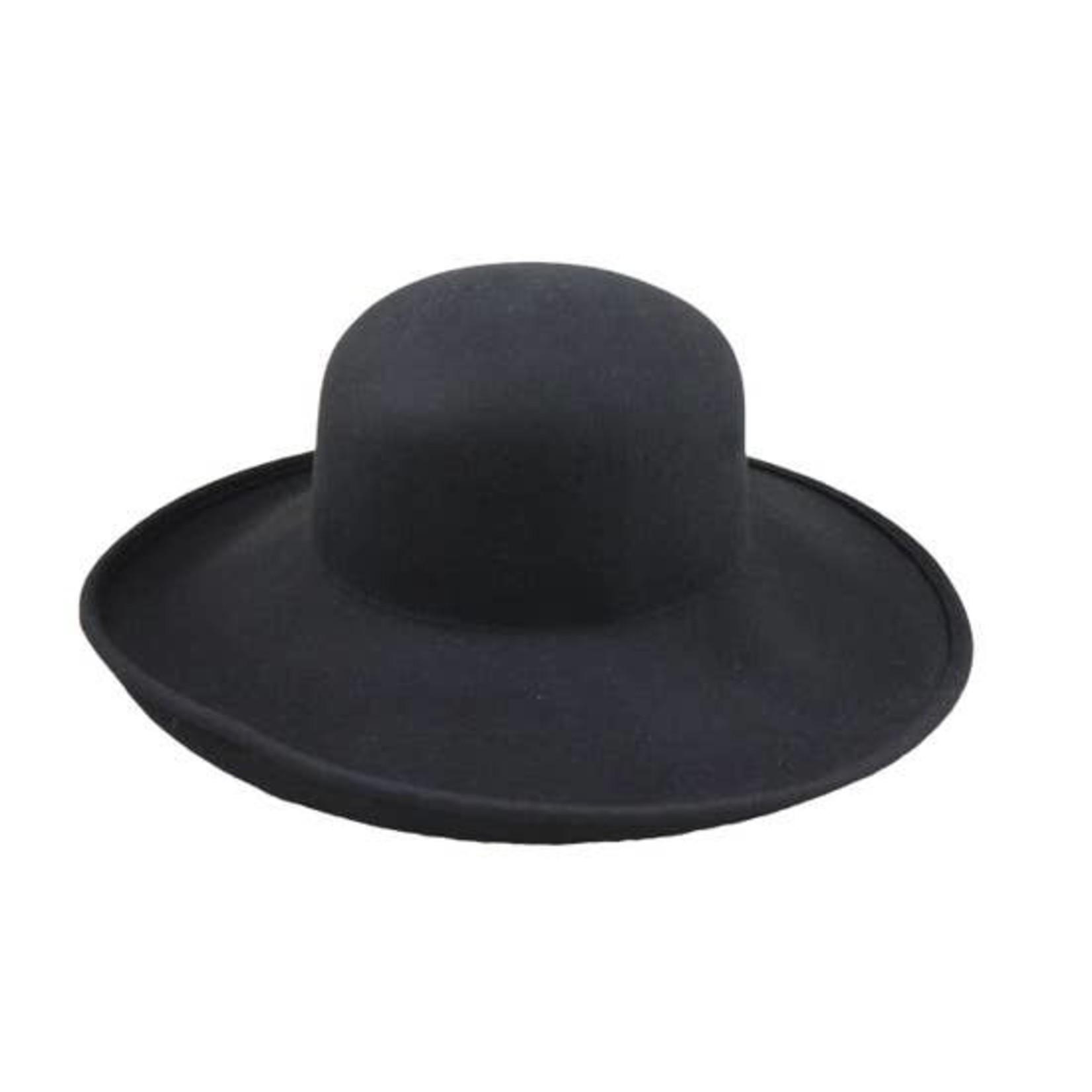 Jeanne Simmons Black Wool Felt Upturn Hat