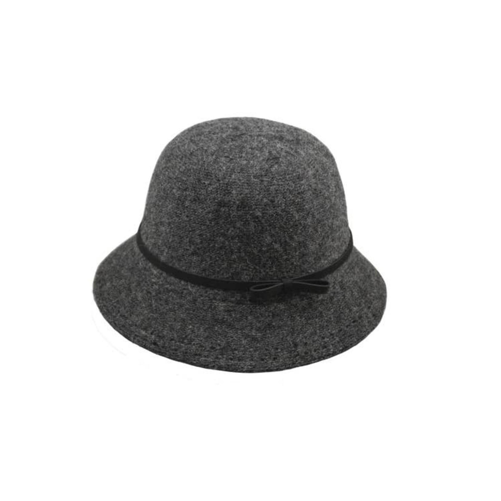Hat Stack Hat/AcrylicBucketBlkTieCrownBlkStitchBrimEdge Dark Grey