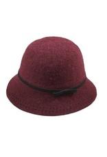 Hat Stack Hat/AcrylicBucketBlkTieCrownBlkStitchBrimEdge Burgundy
