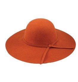 Hat Stack 100% Wool Floppy Wide Brim Hat in Rust