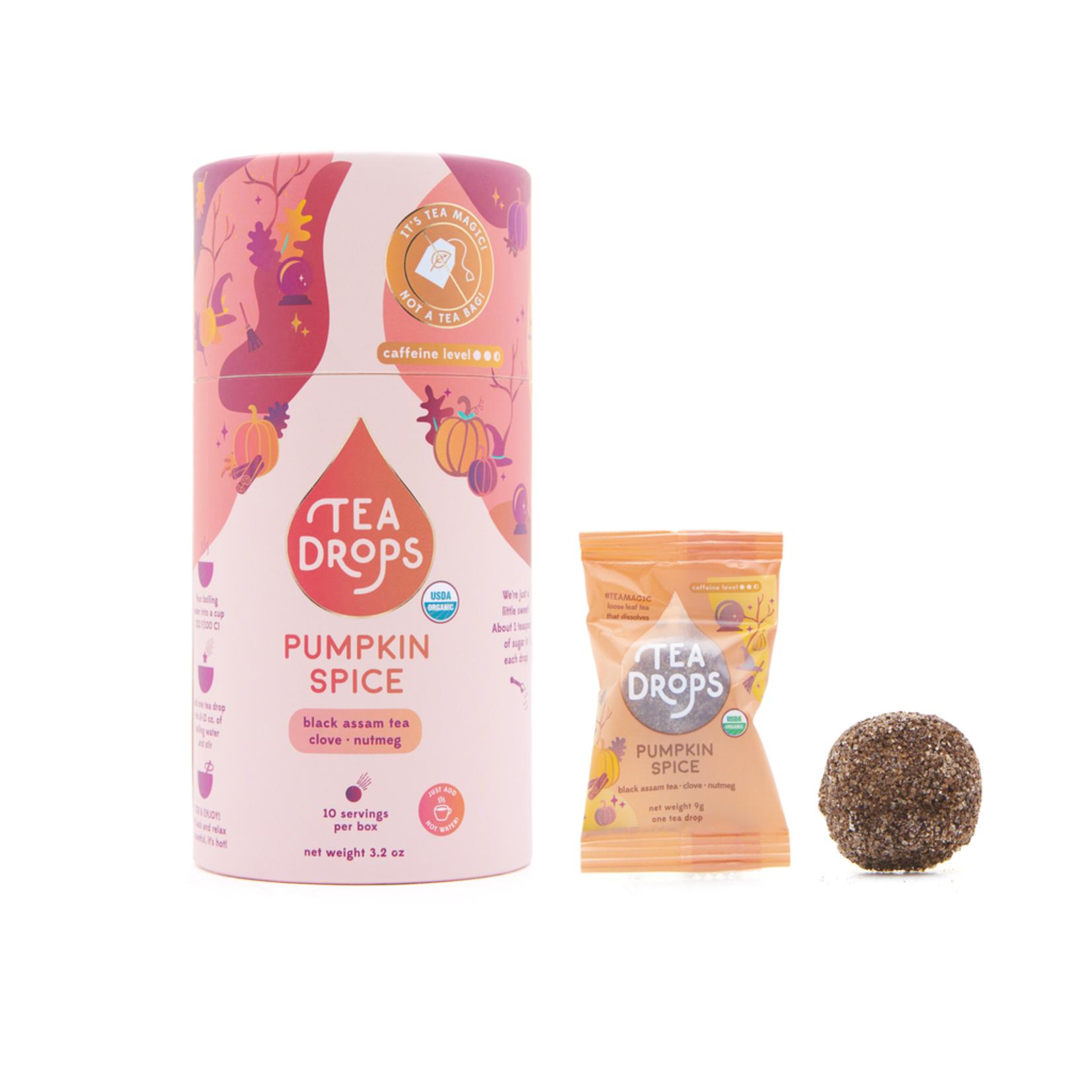 Tea Drops Pumpkin Spice Cylinder of 10 bags