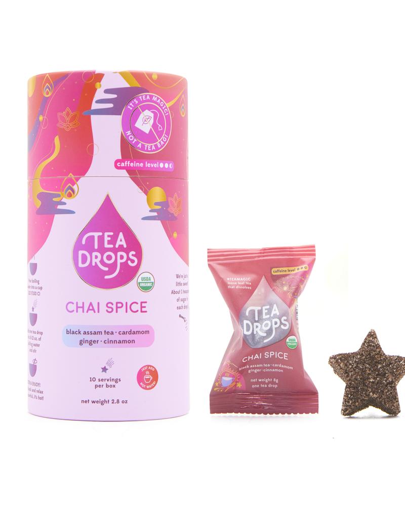 Tea Drops Tea Bag Cylinder 10 bags - Chai Spice