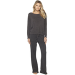 Barefoot Dreams Cozy Chic Ultra Lite Slouchy Pullover - Carbon