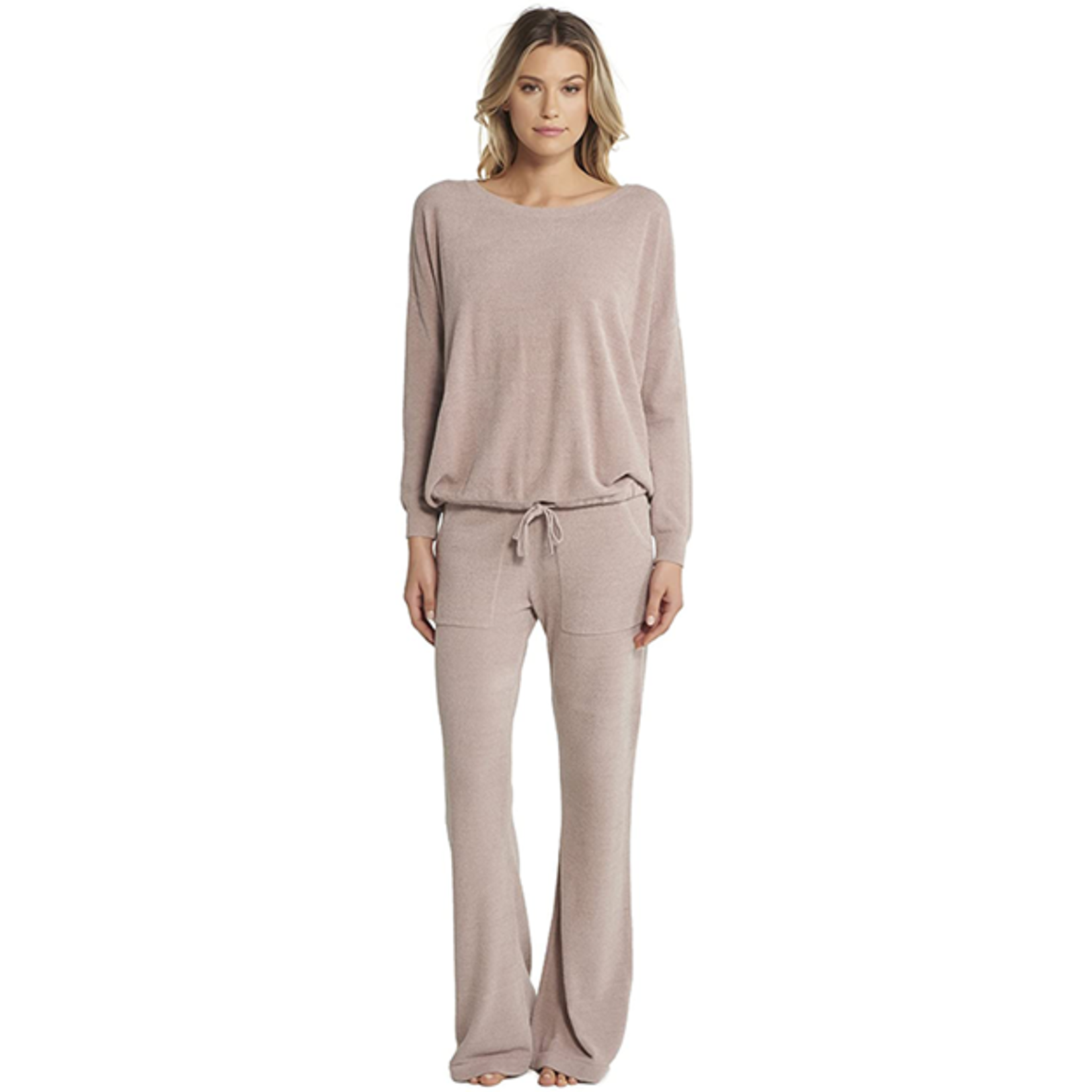 Barefoot Dreams Cozy Chic Ultra Lite Slouchy Pullover - Beach Rock