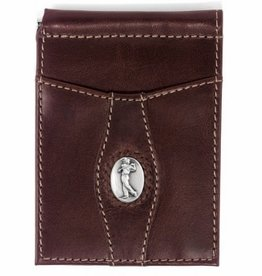 Brighton Devonshire Money Clip Wallet in Brown