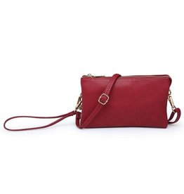 Riley - Vegan Leather Double-Sided Wristlet/Crossbody - Riley