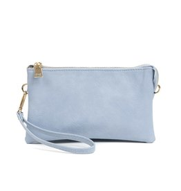 Riley - Vegan Leather Double-Sided Wristlet/Crossbody - Periwinkle(PRWKL)