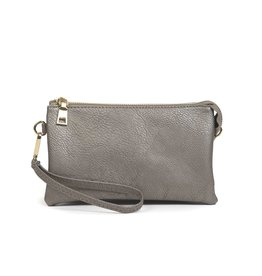 Riley - Vegan Leather Double-Sided Wristlet/Crossbody - Pewter(PW)