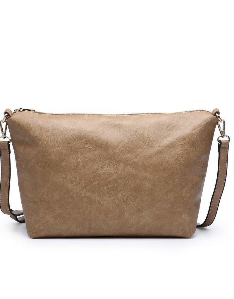 Iris Soft Vegan Tote w/ Bag Inside Violet (VL)