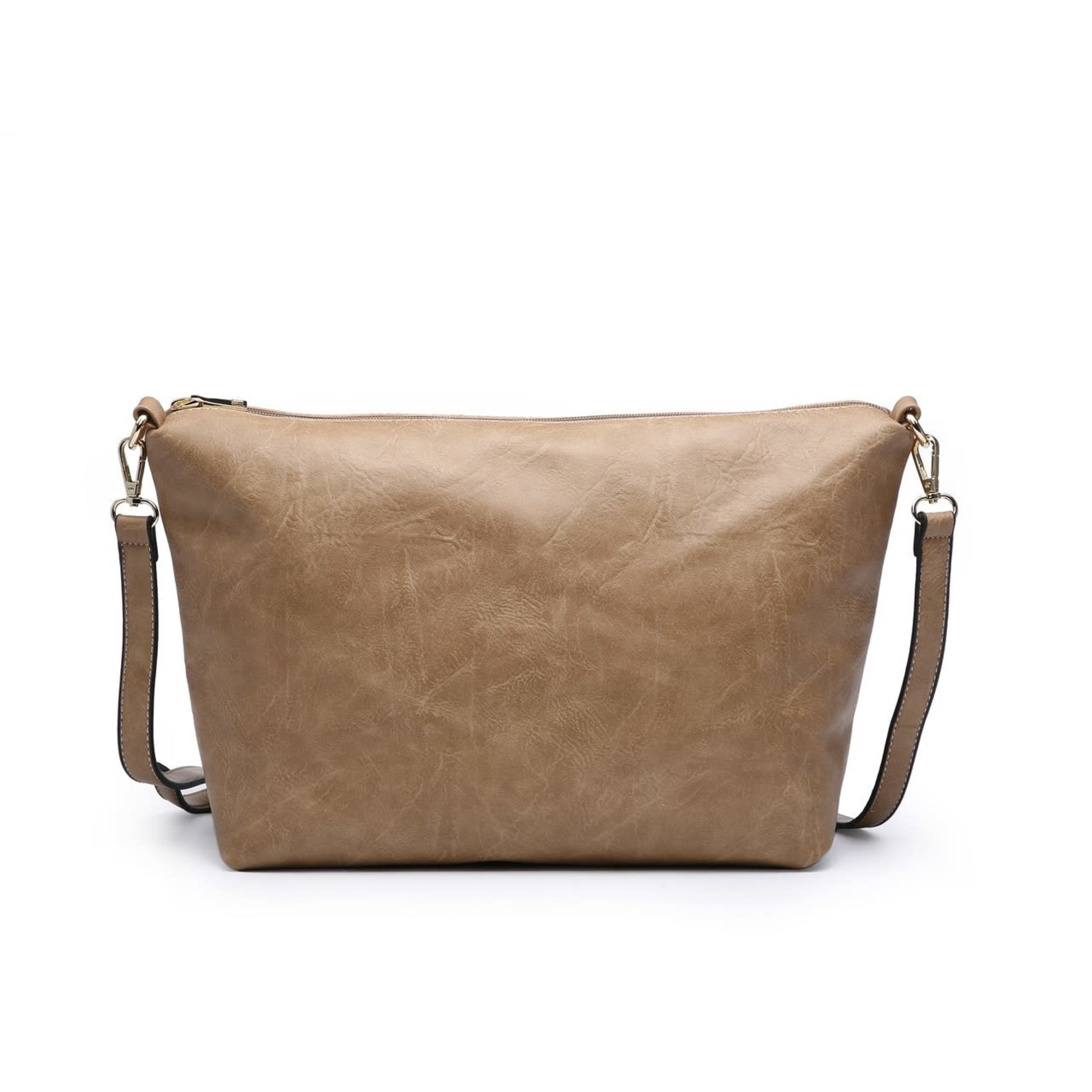 Iris Soft Vegan Tote w/ Bag Inside Mustard (MD)