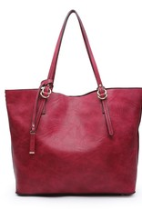 Iris Soft Vegan Tote w/Bag Inside Burgundy (BD)