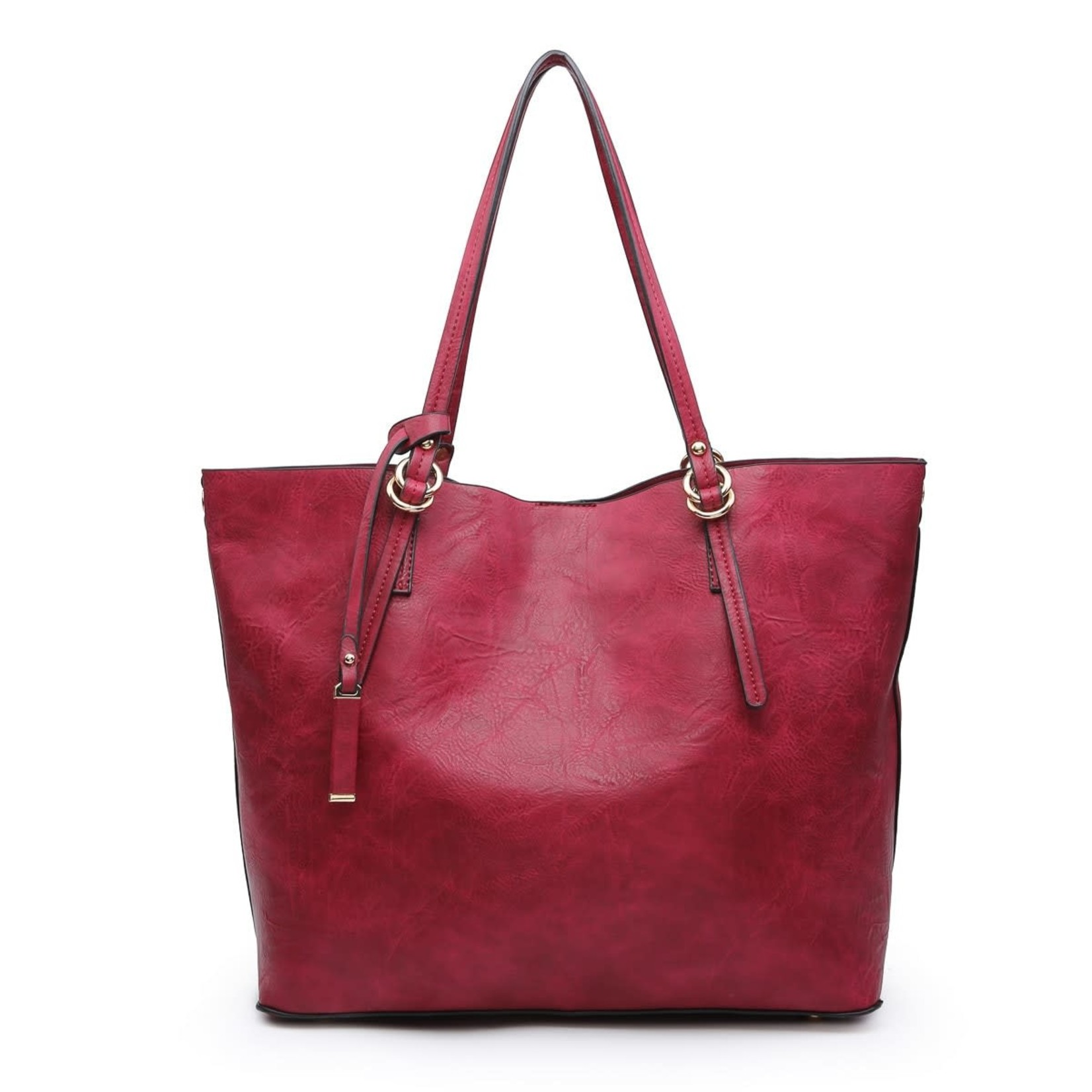 Iris Soft Vegan Tote w/Bag Inside Burgundy (BD)