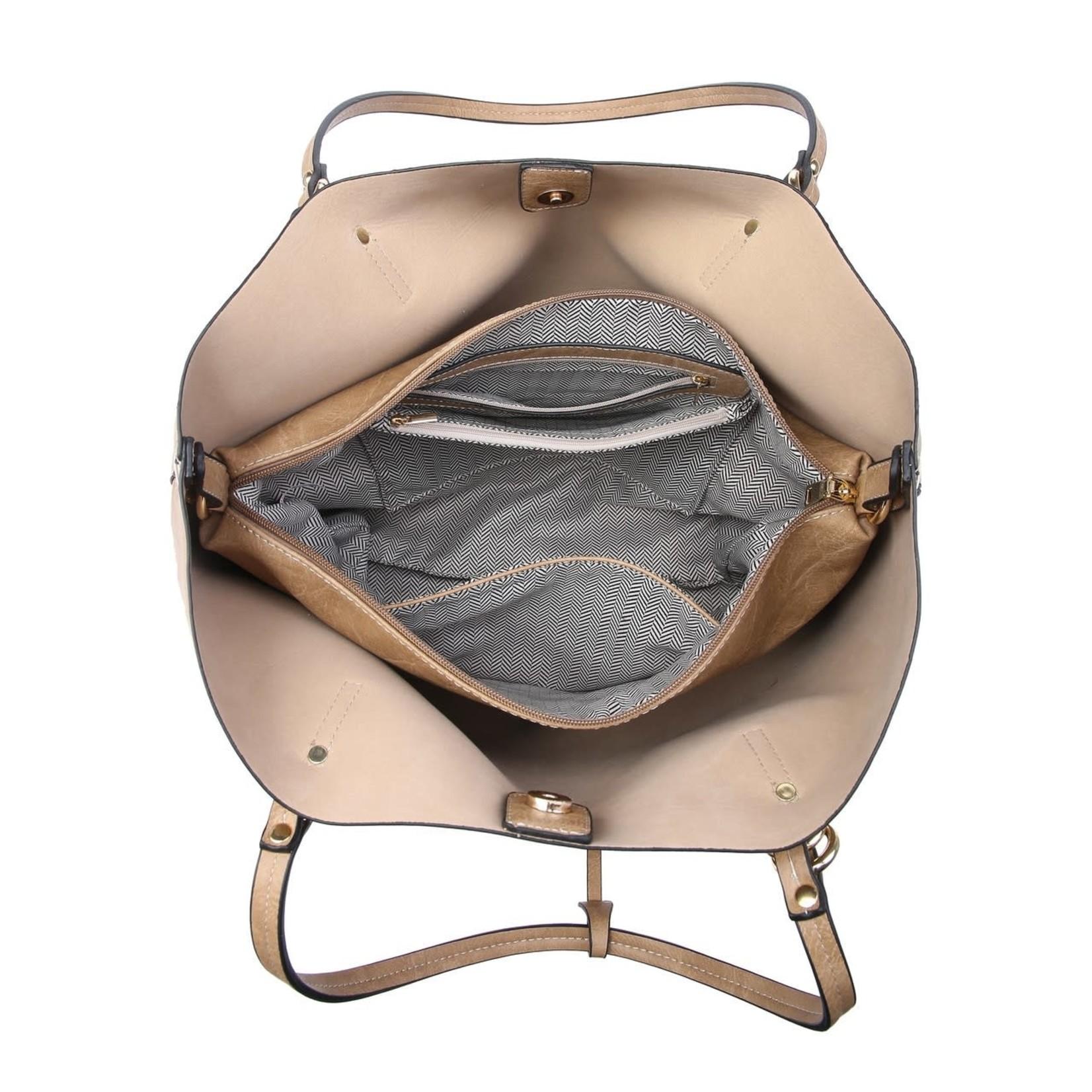 Iris Soft Vegan Tote w/Bag Inside Brown (BR)