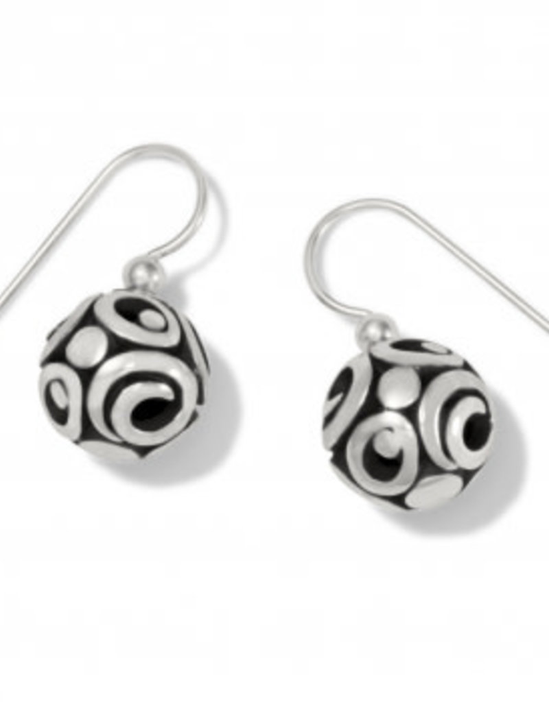 Brighton Contempo Sphere French Wire Earrings Silver OS
