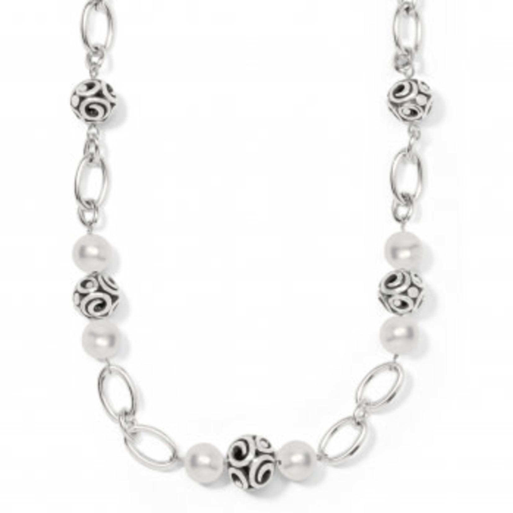 Brighton Contempo Sphere Short Necklace Silver OS
