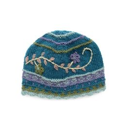 Rising Tide Rosemary - 100% Wool Knit Hat Teal