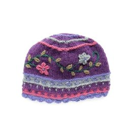 Rising Tide Rosemary - 100% Wool Knit Hat Violet