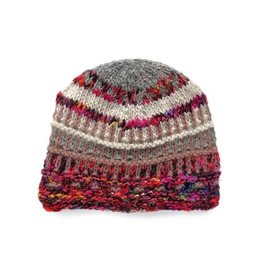 Rising Tide Himalayan 60%Wool 40%Silk Multi-Color Knit Hat Frost