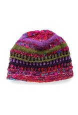 Rising Tide Himalayan 60%Wool 40%Silk Multi-Color Knit Hat Lavender