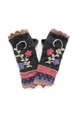 Rising Tide Rosemary - 100% Wool Fingerless Knit Mittens Dusk