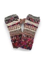 Rising Tide Himalayan - 60%Wool 40%Silk Fingerless Knit Mittens Frost