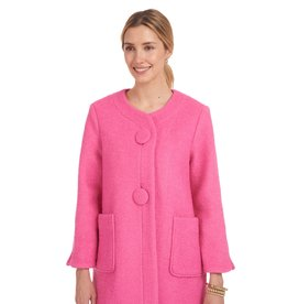 Patty Kim Classic Lady O Jacket Italian Ponte Knit, Fully Lined - Pink