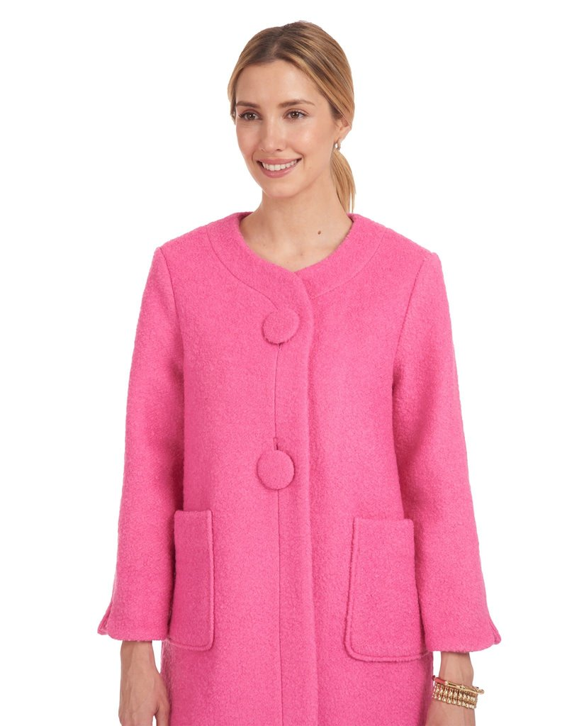 Patty Kim Classic Lady O Jacket Italian Ponte Knit, Fully Lined - Pink
