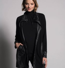 Picadilly Jacket With Gathered Hem in Black