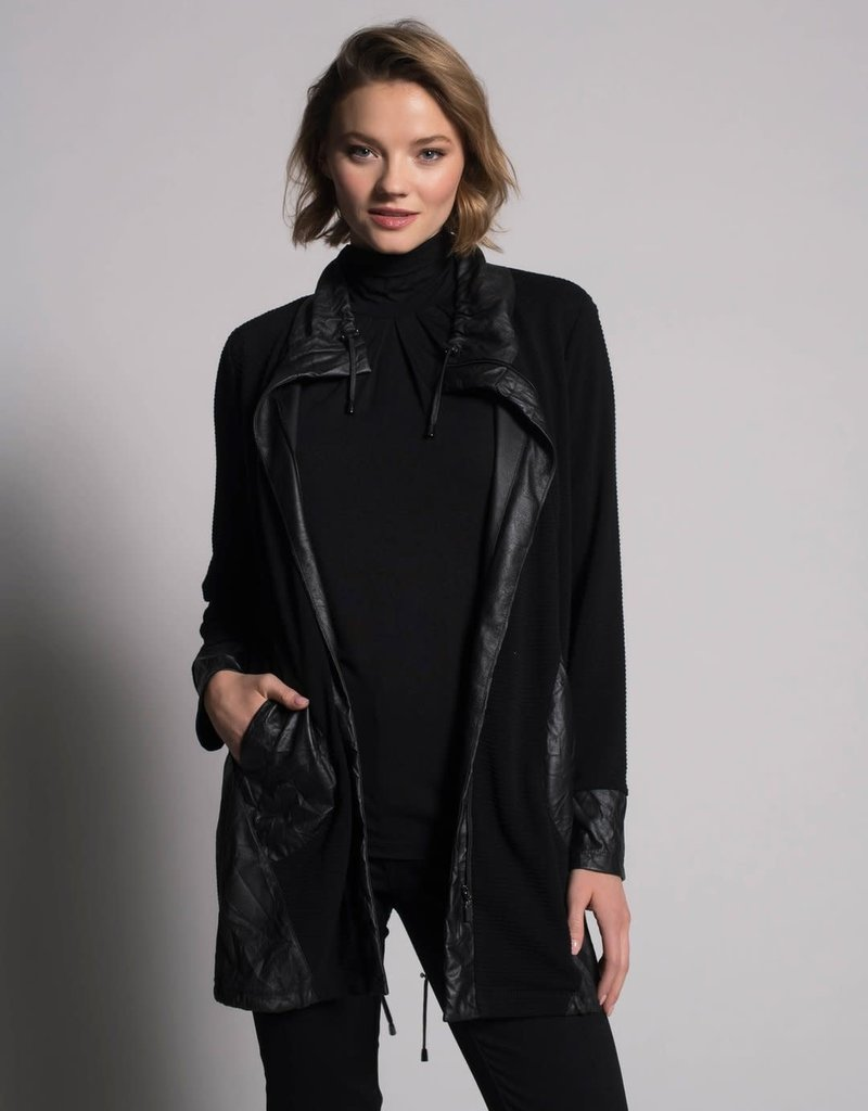 Jacket With Gathered Hem in Black