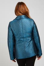 Teal Woven Puffy Nylon w/ Hipsack