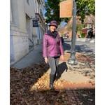 Purple Woven Puffy Nylon Jacket w/Hipsack