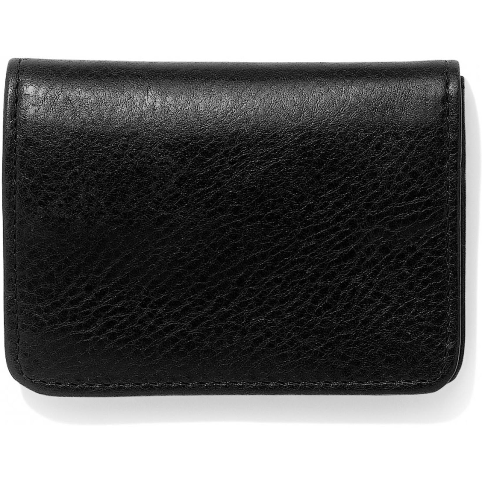 Brighton Carnegie Flip Wallet in Black