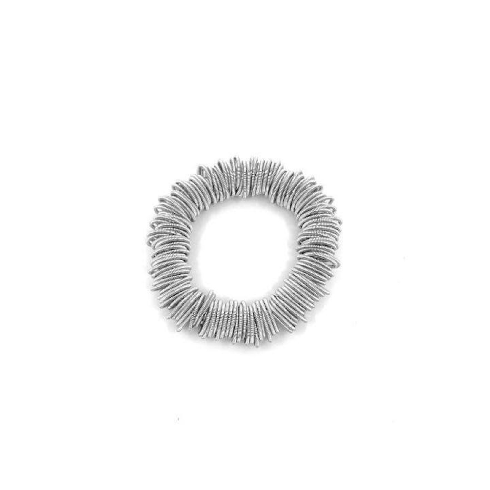 Sea Lily Silver Piano Wire Spring Ring Bracelet