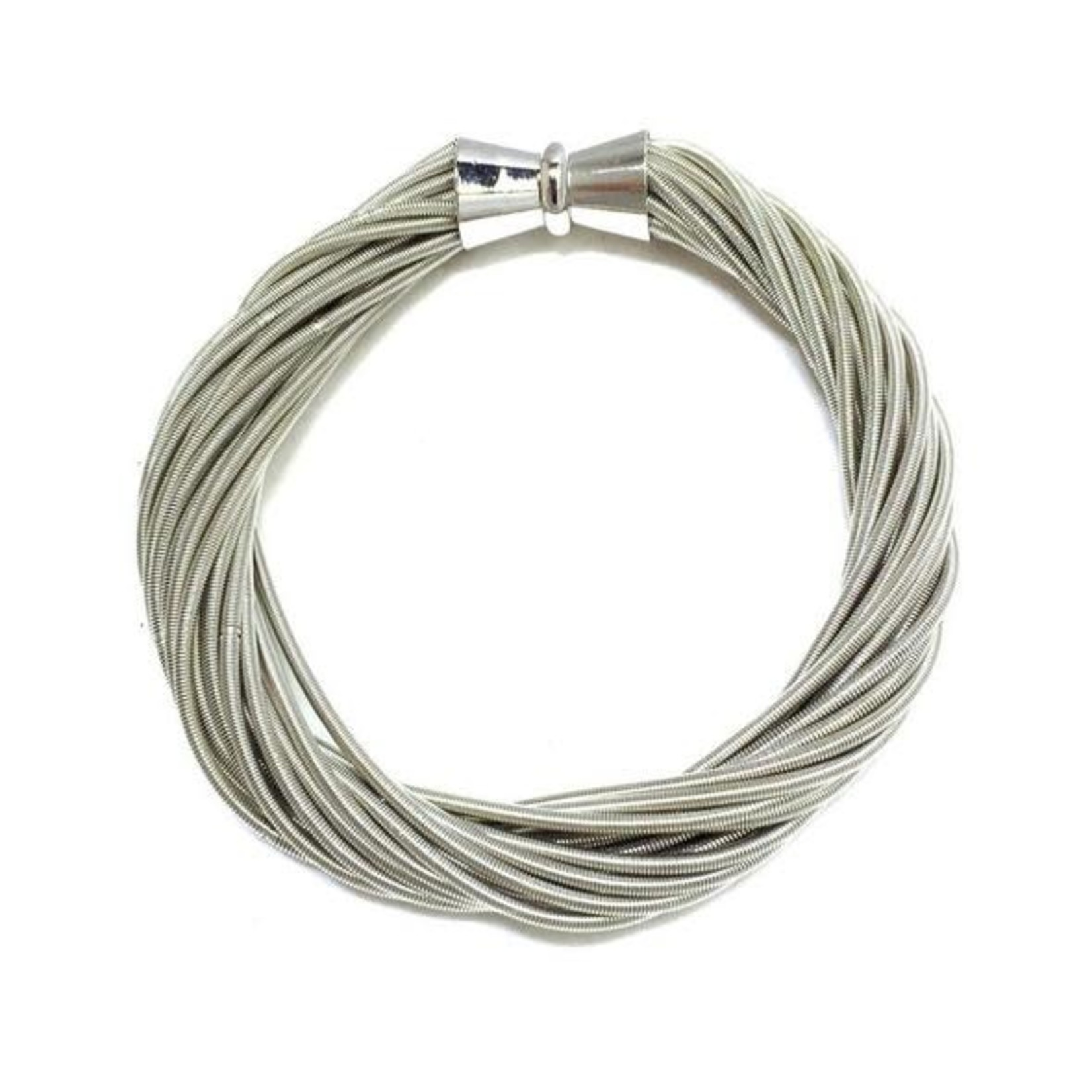 Sea Lily Silver Piano Wire Twist Bracelet