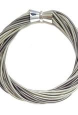 Sea Lily Silver/Slate Piano Wire Twist Bracelet