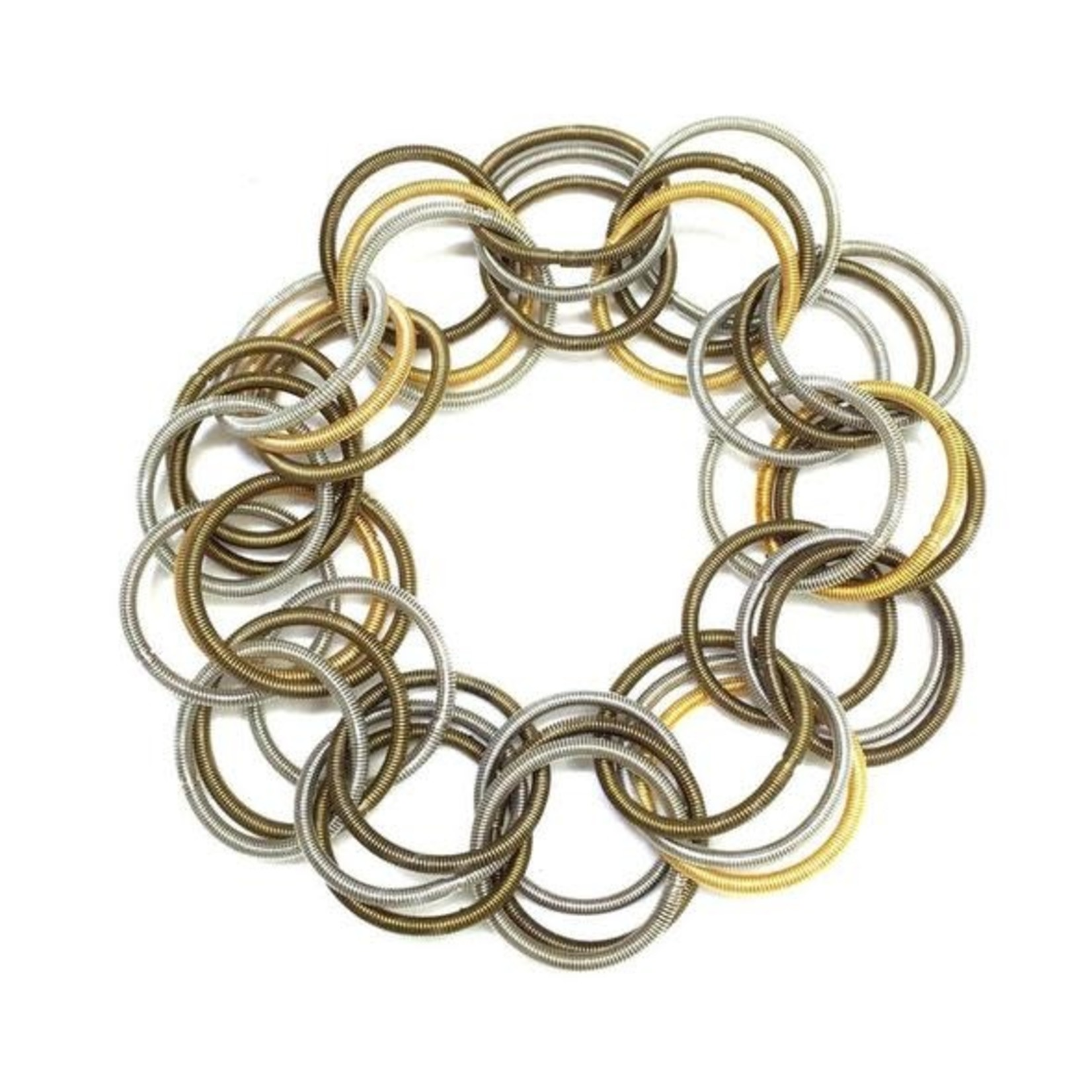 Sea Lily Multi Piano Wire Spring Ring Bracelet