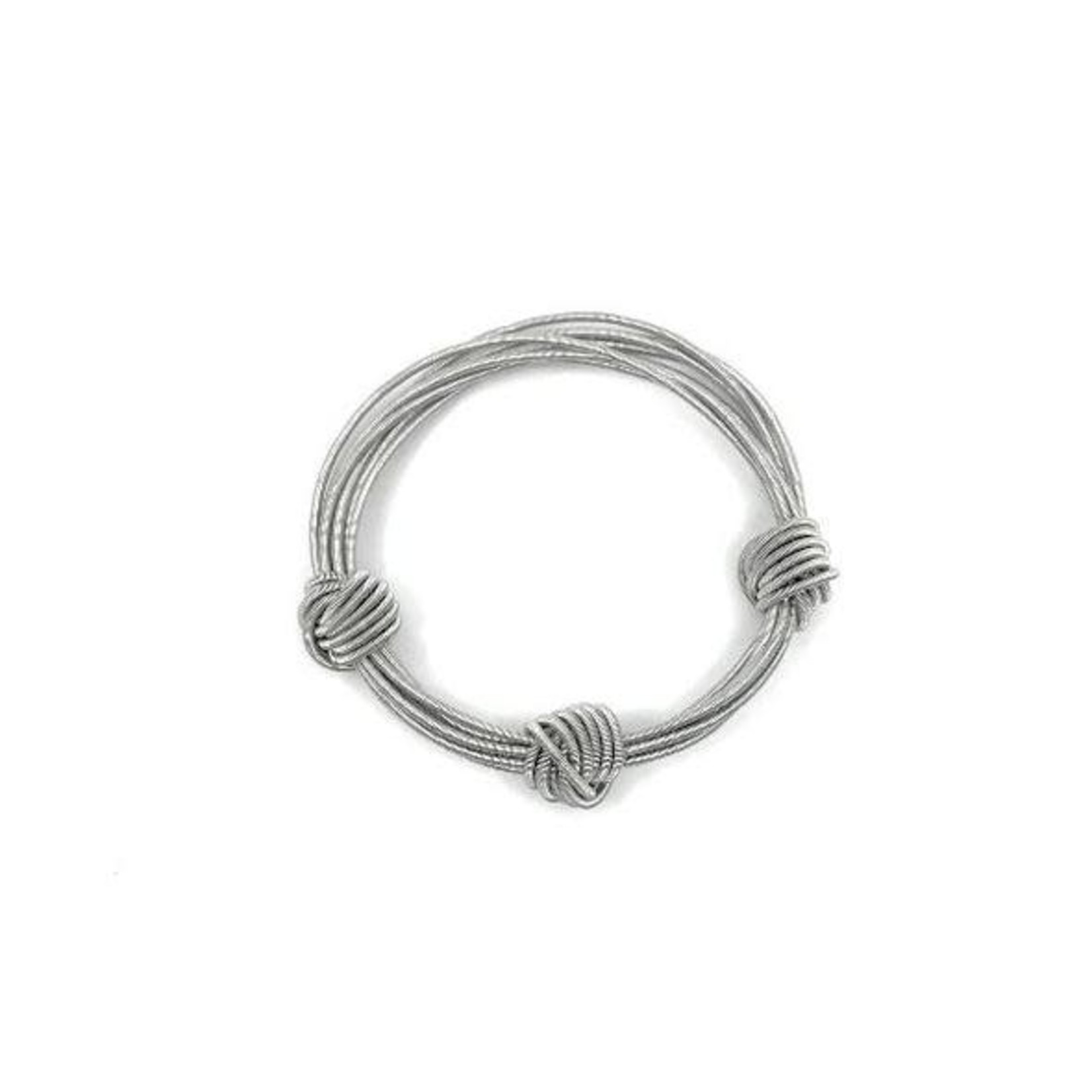 Sea Lily Silver Piano Wire Small Knot Bracelet