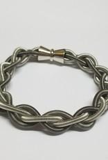 Sea Lily Bracelet/SilvSlatePianoWrBraided w/Magnet