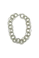 Sea Lily Silver-Bronze Short Loop Necklace w/ Magnet Closure