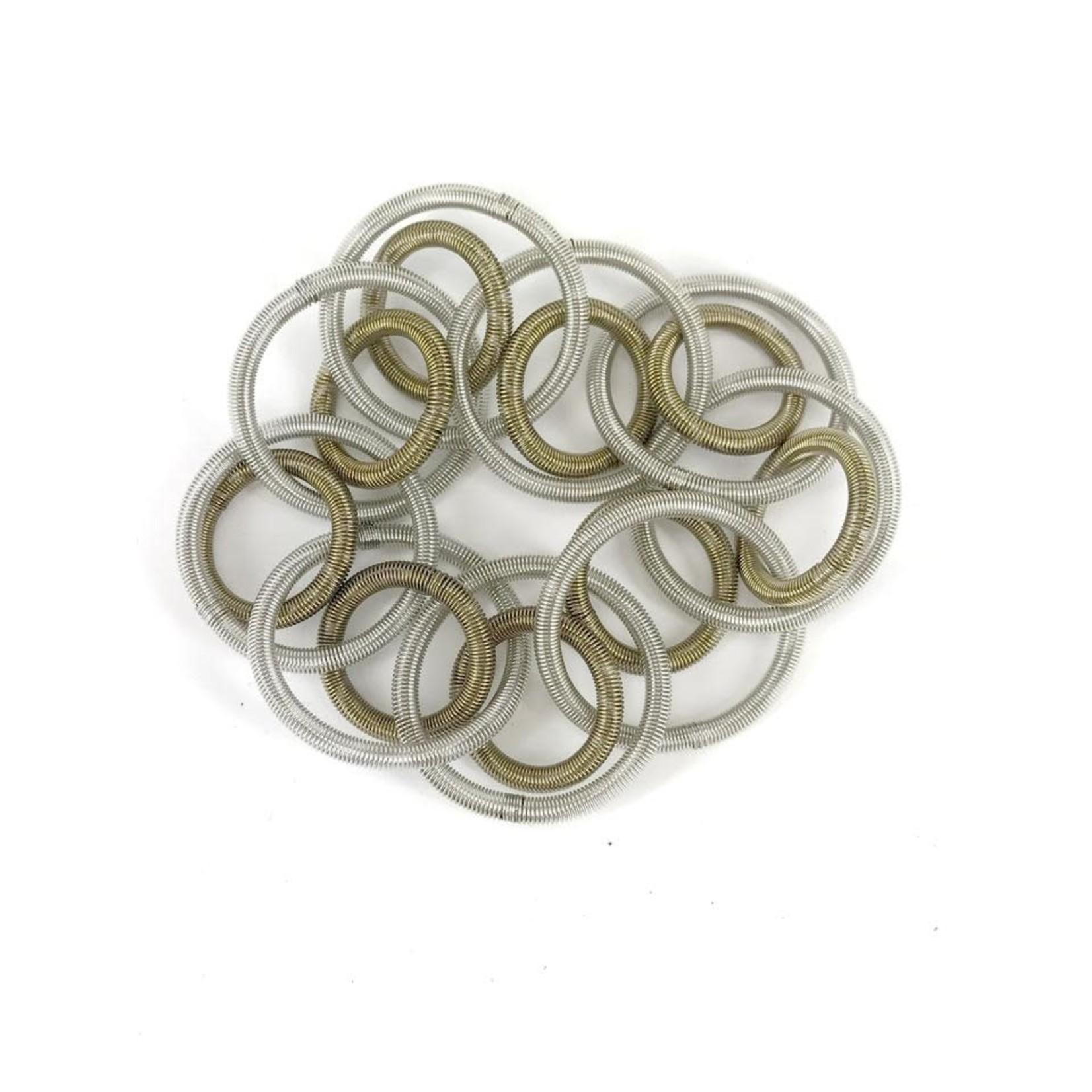 Sea Lily L5E-BR Silver Bronze Loop Bracelet