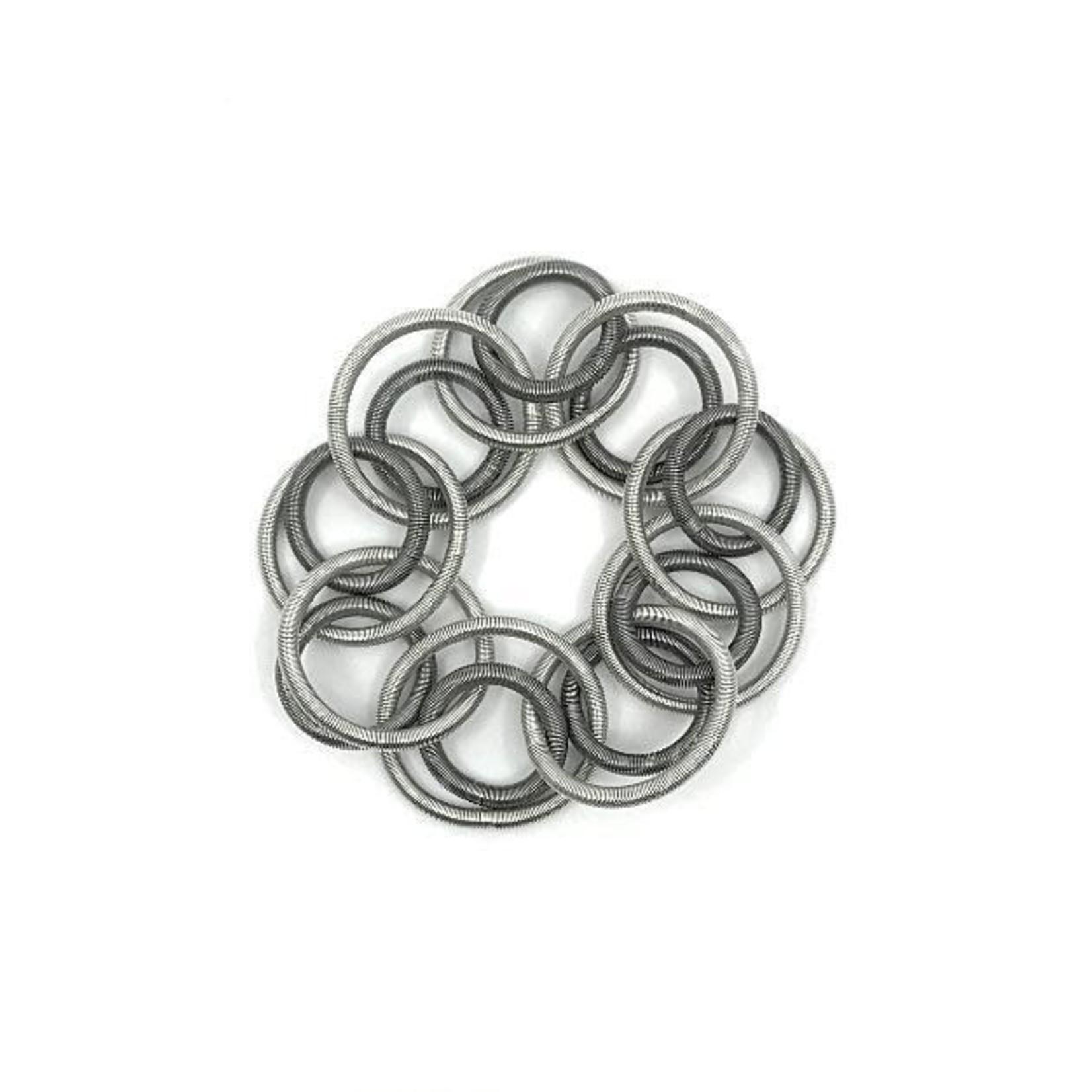 Sea Lily Silver/Slate Loop Bracelet