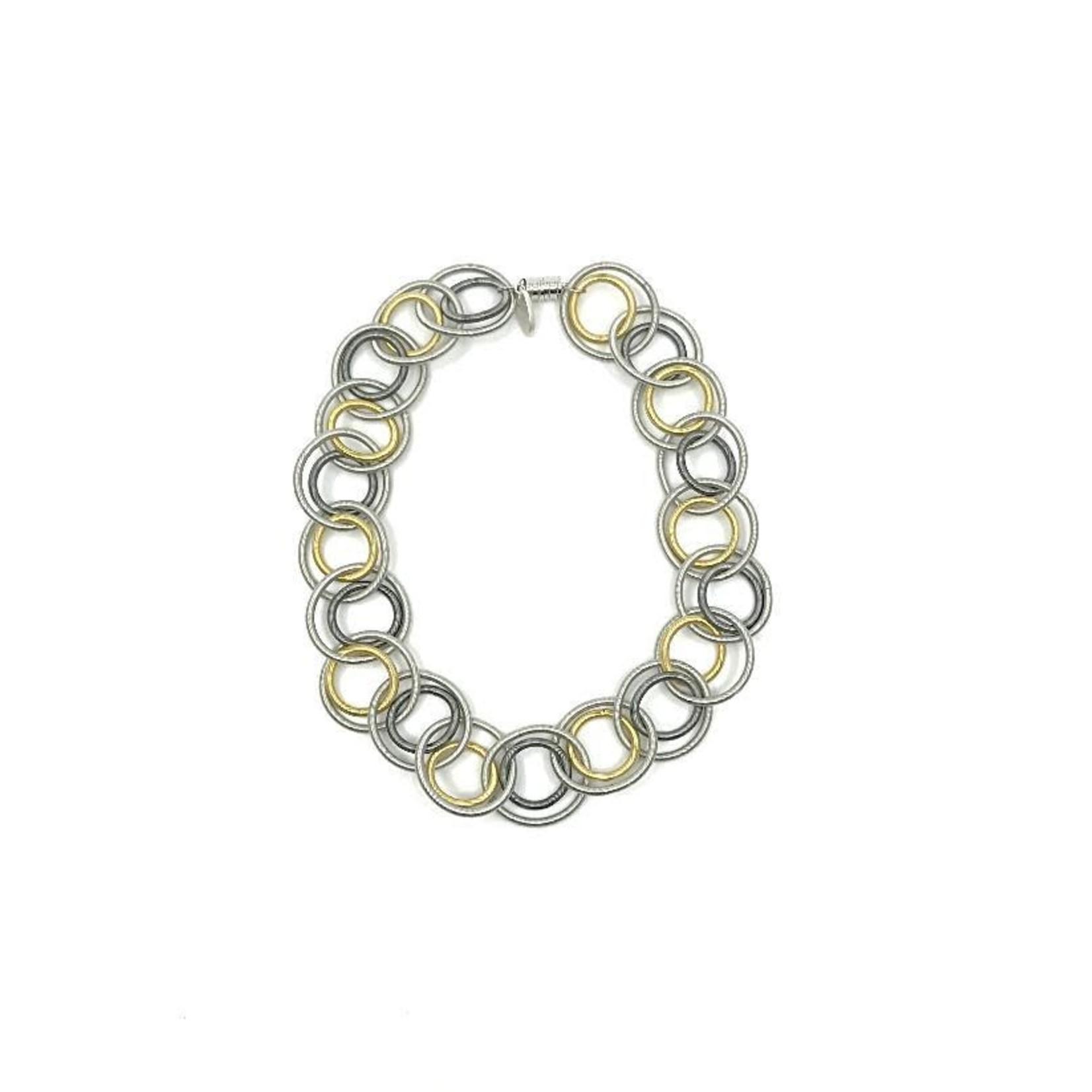 Sea Lily Multi Short Loop Necklace w/ Magnet Closure