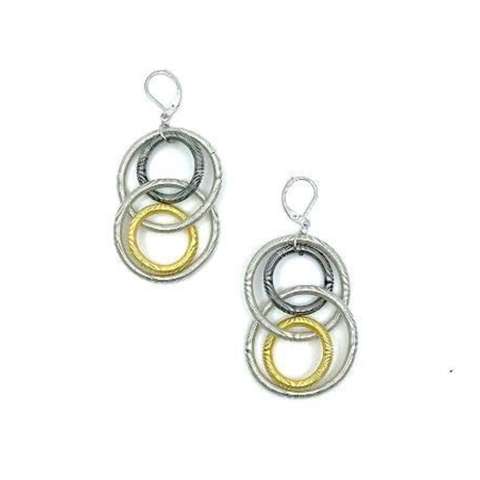 Sea Lily Multi Large Loop Piano Wire Earrings
