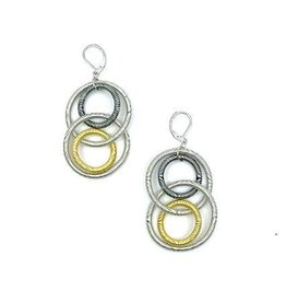 Sea Lily L5K-E Multi Large Loop Piano Wire Earrings