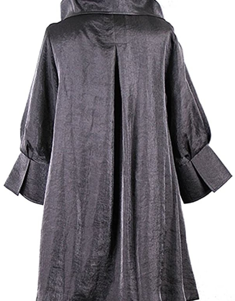 Damee NYC Shimmery Signature Swing Jacket